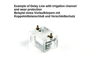 Delay Line with irrigation cahnnel